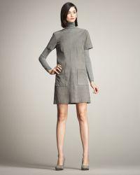 Lyn Devon - Audrey Short-sleeve Suede Shift Dress - Lyst