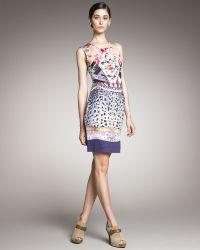 Mary Katrantzou Mixed-print Jersey Dress - Lyst