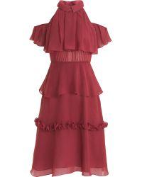 Rodarte x Opening Ceremony Peplum Dress - Lyst