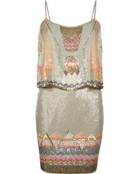 AllSaints Chan Vest Dress gold - Lyst