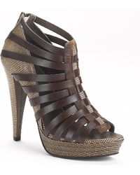 7 For All Mankind - Ruby - Old Luggage Leather Strapped Sandal - Lyst