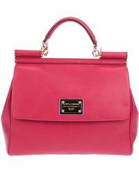 Dolce & Gabbana Miss Sicily Handbag pink - Lyst