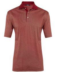 Harrods - Hairline Stripe Cotton Polo Shirt - Lyst