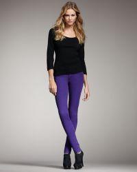 Joe's Jeans Chelsea Skinny Pants, Purple - Lyst