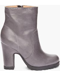 Maison Margiela Low Grey Boots - Lyst