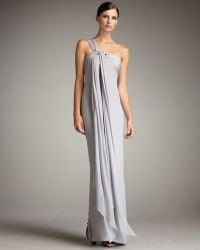 Notte by Marchesa Draped Embellished Gown - Lyst