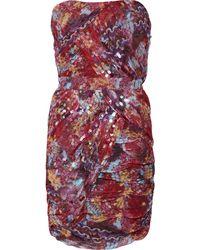 Diane von Furstenberg Garvin Sequined Silk-chiffon Mini Dress - Lyst