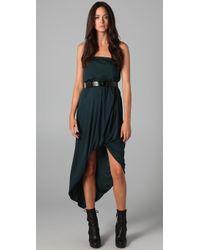 Doo. Ri Belted Strapless Dress - Lyst