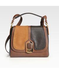 Fendi Silvana Leather Top-handle Bag - Lyst