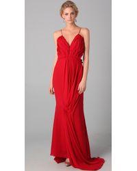 Katie Ermilio Goddess Gown - Lyst