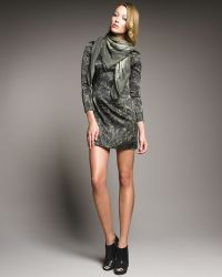McQ by Alexander McQueen Long-sleeve Graffiti Dress - Lyst