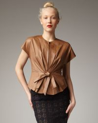Robert Rodriguez | Bow-front Leather Jacket | Lyst