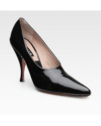 Rochas Patent Leather Point Toe Pumps - Lyst