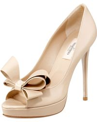 Valentino Couture Patent Bow Pump - Lyst