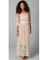 Zimmermann Trivial Embroidered Maxi Dress - Lyst
