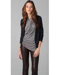 JNBY | Front To Back Polka Dot Cardigan | Lyst