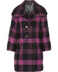 Burberry Prorsum Plaid Wool Coat - Lyst