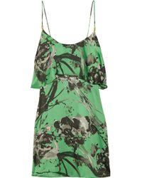 T-bags - Floral-print Satin Mini Dress - Lyst