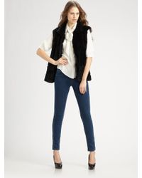 Milly Knitted Rabbit Fur Vest - Lyst
