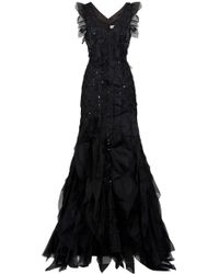Carolina Herrera Scattered Crystal Gown - Lyst