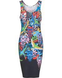 Jonathan Saunders Fitted Bird Print Tank Dress - Lyst
