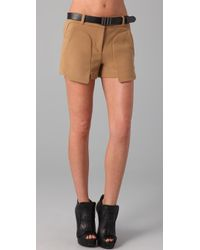 L.A.M.B. - Belted Shorts with Oversized Pockets - Lyst