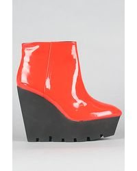 Cheap Monday The Monolit Wedge in Red Patent - Lyst