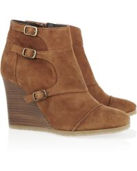 J.Crew | Greer Suede Wedge Ankle Boots | Lyst
