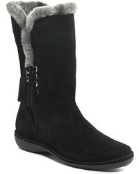 Stuart Weitzman Furlure - Black Suede Faux Fur Boot - Lyst