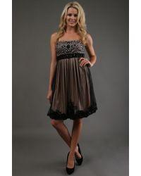 Sue Wong Short Dress - Lyst