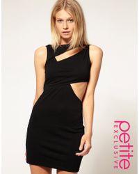 ASOS Collection Asos Petite Exclusive Cut Out Wrap Bodycon Dress - Lyst