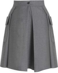 Boutique by Jaeger - Wool Utility Skirt Grey - Lyst