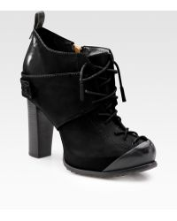 McQ by Alexander McQueen Leather Lace-up Ankle Boots - Lyst