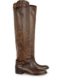 Belstaff Jordan Leather Knee Boots - Lyst