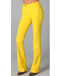 Joseph Rocket Boot Cut Pants yellow - Lyst