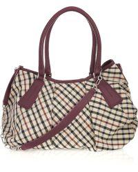 Daks - Pleated Checked Twill Shoulder Bag - Lyst