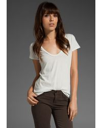 James Perse Classic Relaxed Casual Scoop Tee white - Lyst