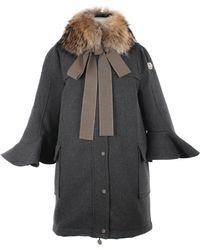 Moncler X Sacai Coating Wool Coat - Lyst