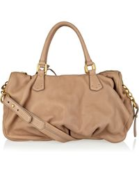 Vionnet Beige Textured-leather Tote - Lyst