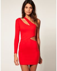 ASOS Collection Asos Bodycon Dress with One Sleeve - Lyst