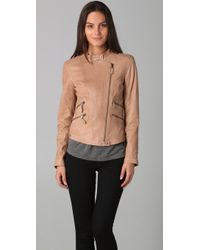 HHH by Haute Hippie - Asymmetrical Leather Jacket - Lyst
