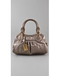 Marc By Marc Jacobs Classic Q Metallic Baby Groovee Satchel - Lyst