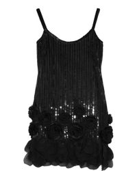 Anna Sui Sequined Tulle Dress - Lyst