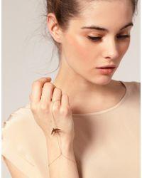 ASOS - Asos Swallow Skinny Chain Hand Harness - Lyst