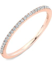 Bony Levy Stackable Diamond Band Ring pink - Lyst
