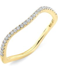 Bony Levy Stackable Wavy Diamond Ring yellow - Lyst
