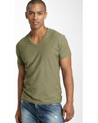 Diesel Tos Extra Trim Fit V-neck Slub T-shirt - Lyst
