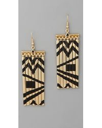 House Of Harlow 1960 Fringe Earrings - Lyst