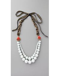 Juicy Couture - Brentwood Prepster Beaded Necklace - Lyst