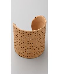 Maison Margiela Leather and Brass Cuff - Lyst